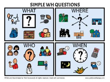 WH Question Visual Support -FREE DOWNLOAD
