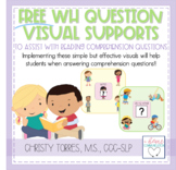 FREE 'WH' Question Visual Supports for Children with Autism or Special Needs