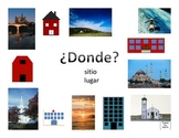 WH Question Visual Supports and Lesson: Spanish