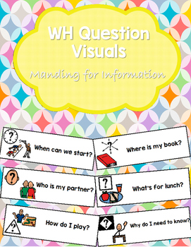 WH Question Visuals: Manding for Information
