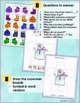 Winter Clothing Snowman Color Match Question Game- SpecEd, Speech/Lang