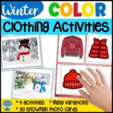 Winter Clothing Snowman Color Match Question Game and Activities