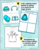Winter Language Activities: Snowman Clothing Color Match  Question Game
