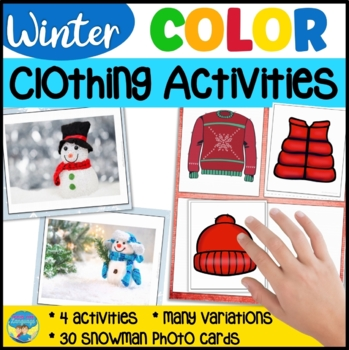 Winter Clothing Color Match Snowman Activities for Mixed Groups