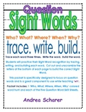 """""""WH"""" Question Words--Sight Words"""