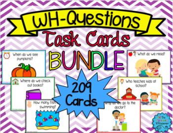 WH-Questions Task Cards BUNDLE!