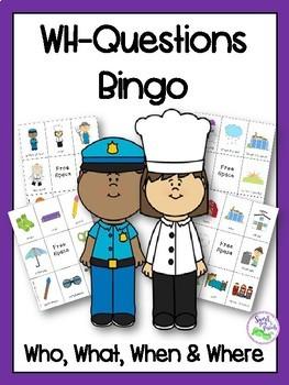 WH-Questions Bingo