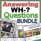 WH- Questions Bundle: Autism, Speech, ABA