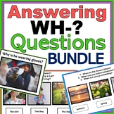 WH- Questions Bundle: Autism, Speech Therapy, ABA