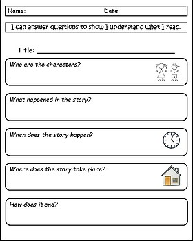 WH Questions- Comprehension with Picture Prompts