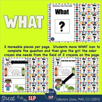 WH Questions Core Word Books BUNDLE