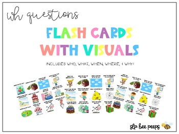 WH Questions Flashcards with Visuals