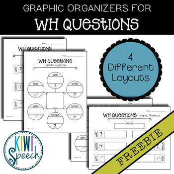 WH Questions Graphic Organizers FREEBIE