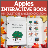 Apples Interactive Book & Worksheets with WH Questions and