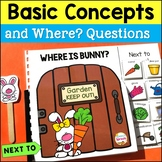 WH Questions Interactive Book for Spring for Positional words: Next to