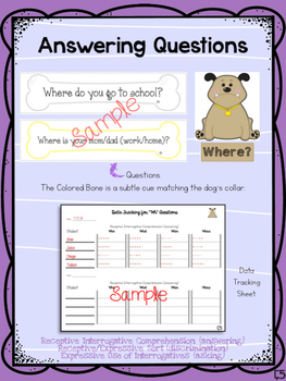 WH Questions - Interrogative Practice for Expressive and Receptive Acquisition