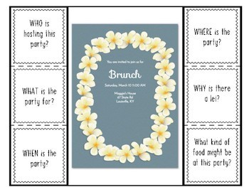 WH- Questions: Invitations