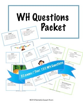 WH Questions Speech and Language Packet