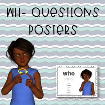 WH- Questions Posters and Punch Cards