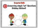 WH Questions Preschool (Holiday)