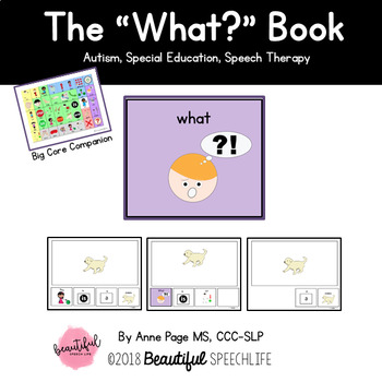 """WH Questions: The """"What"""" Book for Autism &Speech Therapy"""