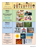 WH Questions Visual Aid (English/Spanish)