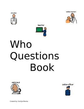 WH- Questions : Who Book