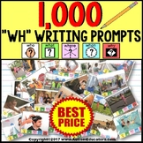 WH Questions Writing and Language Prompt Cards Bundle Autism Resource