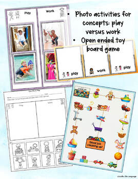 Adapted Books for Autism & AAC Core Vocabulary: Play!