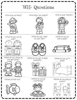 WH- Questions: home practice, parent handout