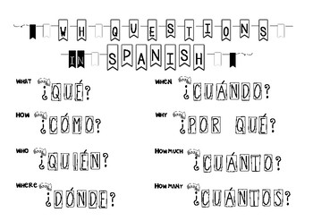 WH Questions in SPANISH