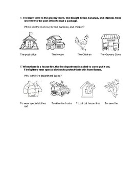 WH Questions with Multiple Choice Picture Answers