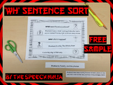 WH Sentence Sort Free Sample