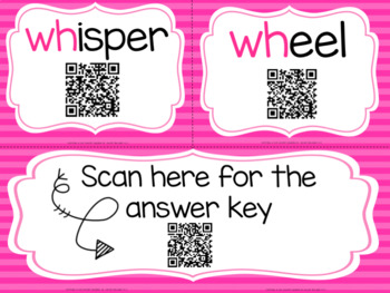 WH Task Cards with QR Codes