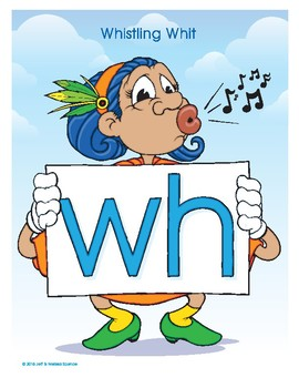WH (Whistling Whit) Word Buddy Poster