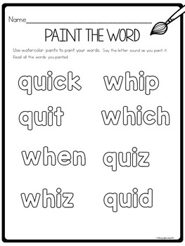 WH and QU Worksheets