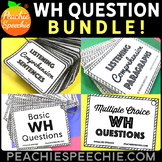 WH-questions and Comprehension Card Deck BUNDLE by Peachie