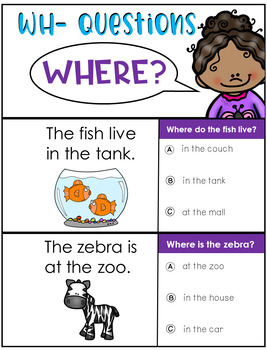 WH questions flipbooks {fluency practice}