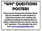 """""""WH"""" questions posters"""