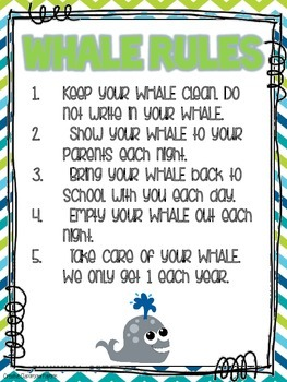 W.H.A.L.E. Folder {Weekly Homework And Little Extras} Parent Communication Tool