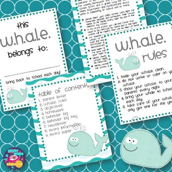 W.H.A.L.E. Homework Folder