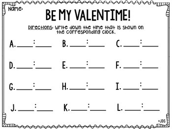 WHALE You Be My ValenTIME? (A Write the Room Activity)