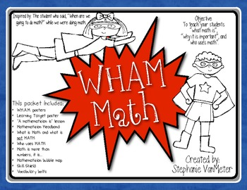 WHAM Math (Whole Group, Hands-on, At Your Seat, Meeting for Review)