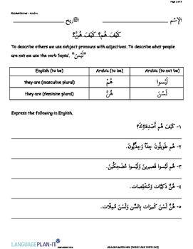 WHAT ARE THEY LIKE (ARABIC)