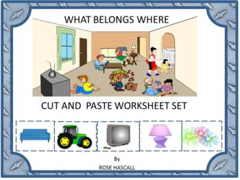 What Belongs Where Classification Kindergarten Cut and Pas