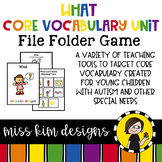 WHAT Core Vocabulary Bundle for Special Education Teachers