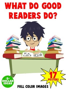 READING POSTERS |WHAT DO GOOD READERS DO? | 17 POSTERS| READING STRATEGIES