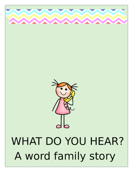 WHAT DO YOU HEAR AN AT WORD FAMILY ACTIVITY BOOK