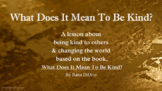 WHAT DOES MEAN 2 BE KIND? Ready 2 Use SEL LESSON w 4 Video