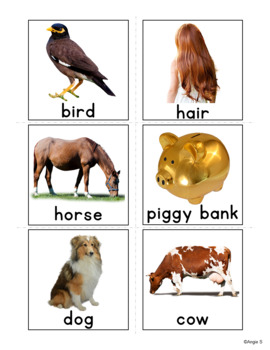 Associations Photo Flash Cards - What Goes Together